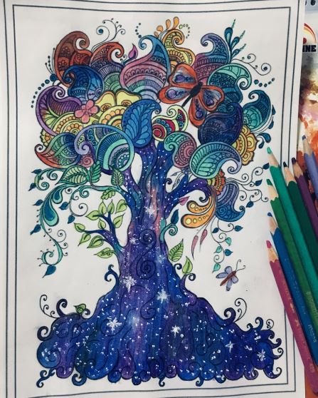 a mindfulness coloring page that I made